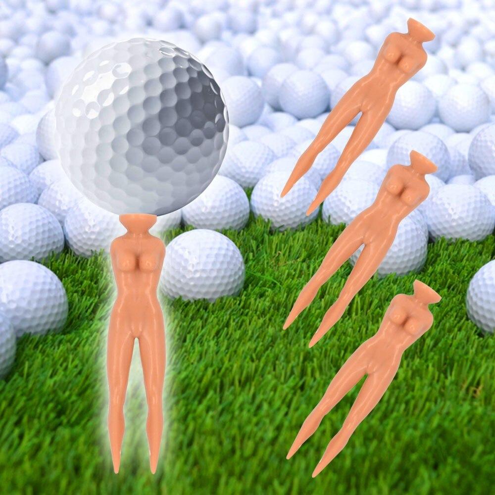 Golf Tees Plastic Novelty Joke Nude Lady Golf Tee Practice Training 10Pcs/lot Hot
