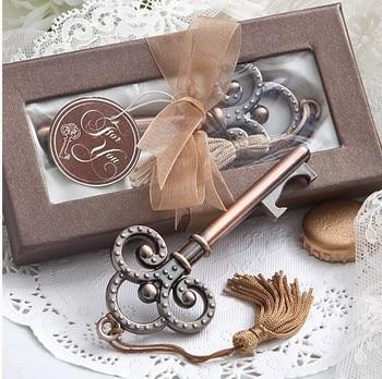 Envío Gratis 100 unids/lote clave para mi corazón colección clave de diseño de la boda, de boda abridor botella grabada,