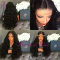 middle part Heat Resistant Synthetic lace front Wig #1B braided Cosplay wigs Synthetic full lace front Wigs for black Women