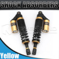 """Universal 13.5"""" 340mm Motorcycle Air Shock Absorber Rear Suspension For Yamaha Motor Scooter ATV Quad Black & Gold D25"""