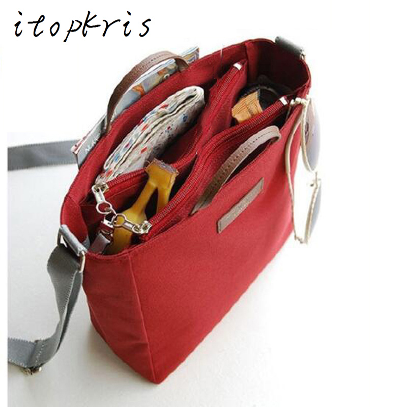 Itopkris Fashion Female Crossbody Bag Multifunctional Canvas Tote Clutch Women Travel Necessaire Storage Shoulder Handbag Holder aosbos fashion portable insulated canvas lunch bag thermal food picnic lunch bags for women kids men cooler lunch box bag tote