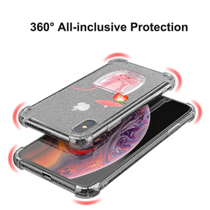 Image 3 - Heyytle Transparent Glitter Case For iPhone 8 7 Plus 6 6s Airbag Shockproof Case For iPhone XR X XS MAX 9 Soft TPU Cover Coque