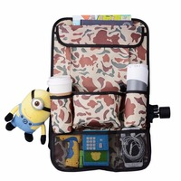 Multi-function Travel Car Backseat Organizer Seat Back Storage Pocket Trash Bag Rear Racks Pouch Bag iPad Holder Box