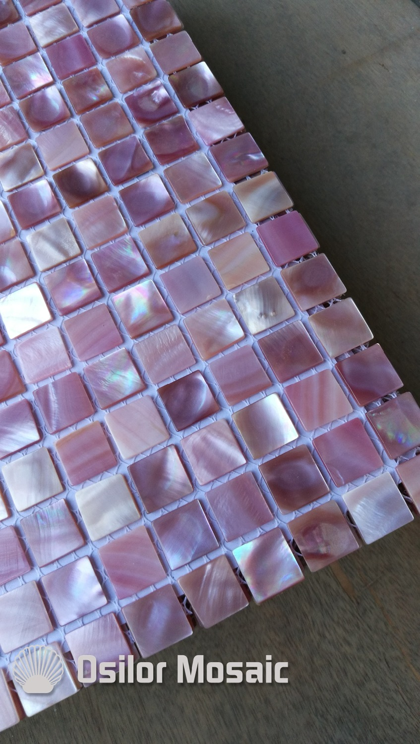 free shipping pink shell mother of pearl mosaic tile for home decoration wall tile pink color brick pattern 100% blacklip sea shell natural black color mother of pearl mosaic tile for interior house decoration wall tiles