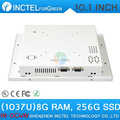 2015 new product White LED computer Touch screen All in one pc with White Color 1037u processor Windows linux 8G RAM 256G SSD
