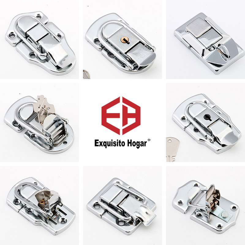 Wooden Box Iron Tool Cabinet Fitting Lock Bag Spring Belt Hasp Buckle Hardware Package Accessories
