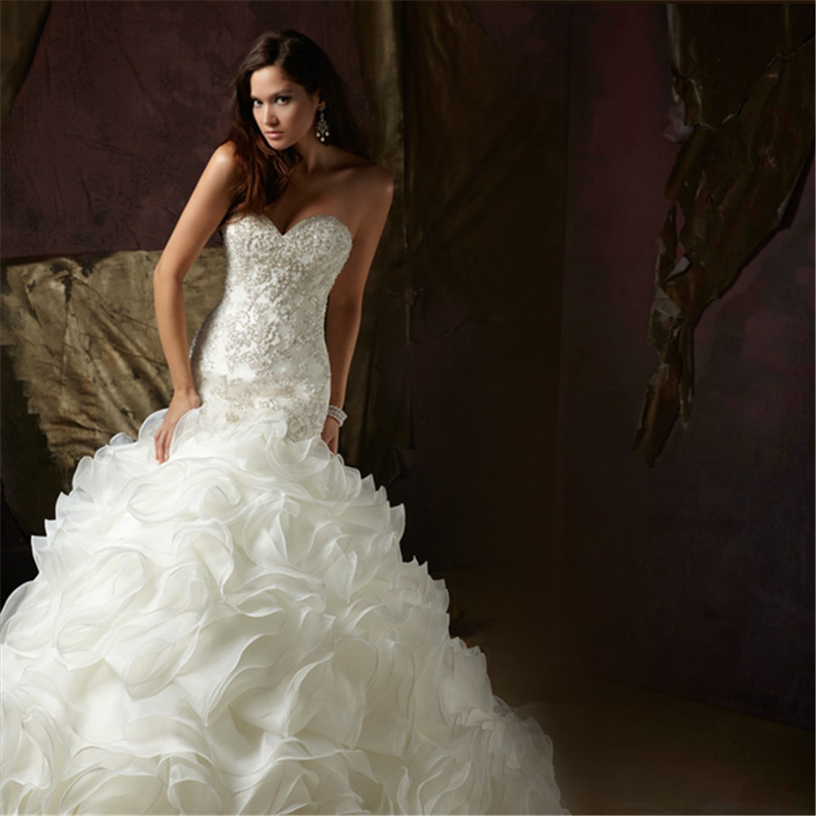 Mermaid wedding dresses princess wedding dresses dressesss for Diamond mermaid wedding dresses