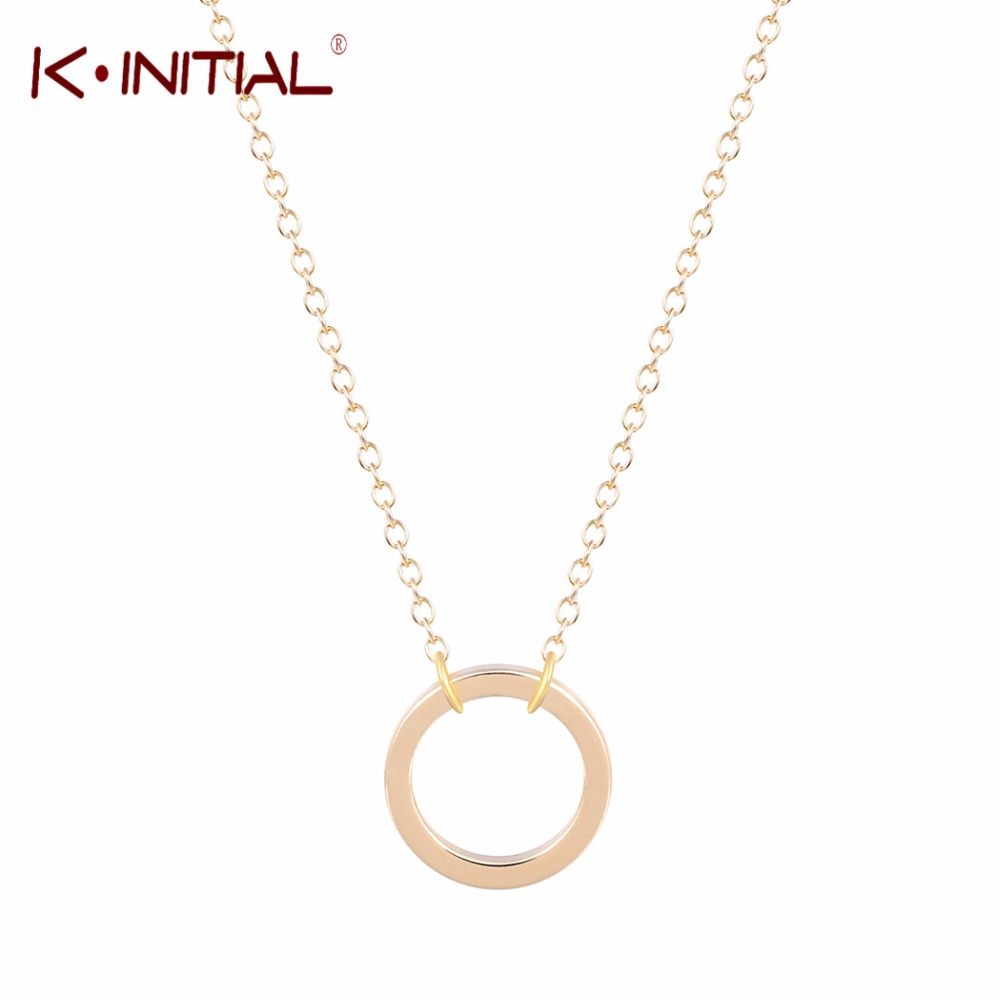 Online get cheap silver open circle necklace aliexpress kinitial 30 mozeypictures Choice Image