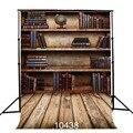 150 cm * 210 cm telones de fondo de vinilo Delgada fotografía photo studio fondo niños venta caliente y estantería de madera Retro de fondo