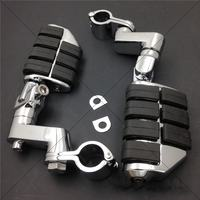 Kuryakyn Dually Highway Clamps 1 Large Foot Pegs For H D Sportster 883 XL1200