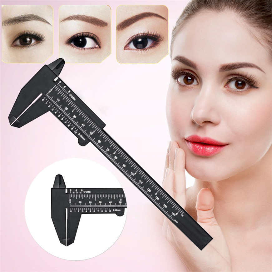 Microblading Reusable Makeup Brow Measure Eyebrow Guide Ruler Permanent Tools