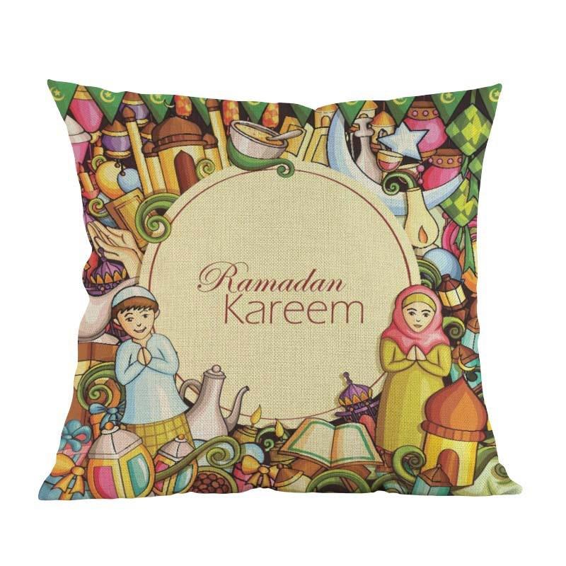 Islam Muslim festival Eid al-Fitr Cushion Cover Decoration Home house room sofa chair seat living room pillow case friend gift