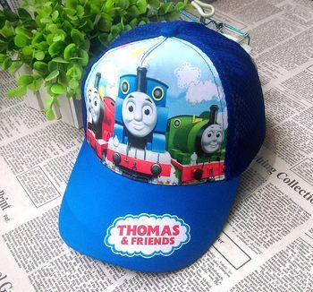 Thomas and Friends 52-54 adjustable New cartoon baby  children's hat summer cool tennis cap kindergarten hat эксклюзиные паровозики в асст thomas and friends