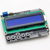LCD Display For Arduino 1602 Keypad Shield Module 16x2 5V Blue Backlight With White Word Display
