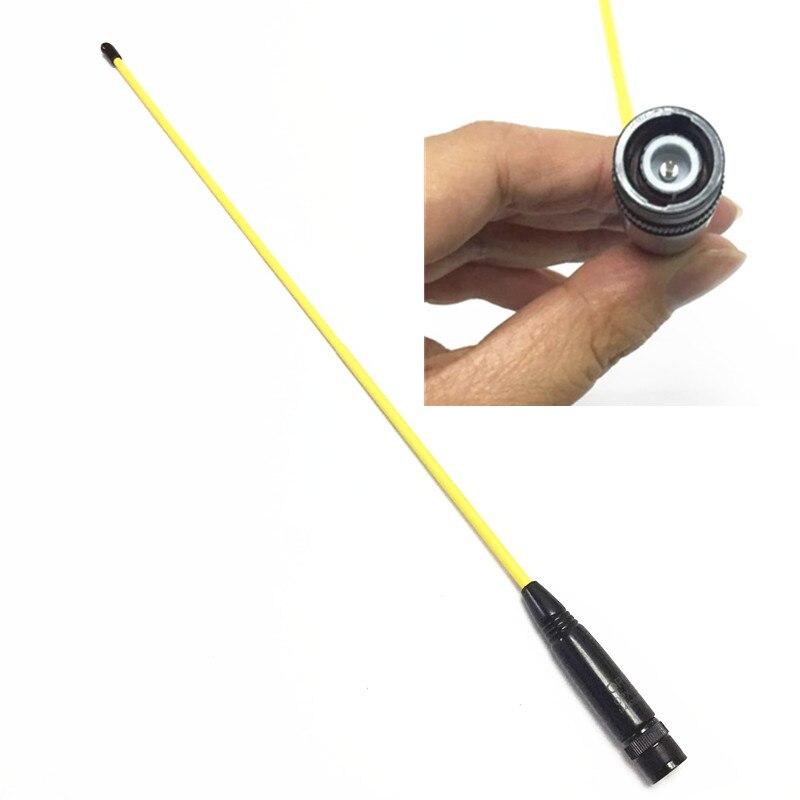 Yellow OPX771 UV Dual-segment Soft Antenna for IC-V8, IC-V80, IC-V82, IC-U82, IC-W32