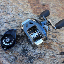 Bait Casting Reel High Speed 6.3:1 Saltwater Fishing Reel Light Weight Left/Right Black/Blue Aluminium Alloy Jigging Reel