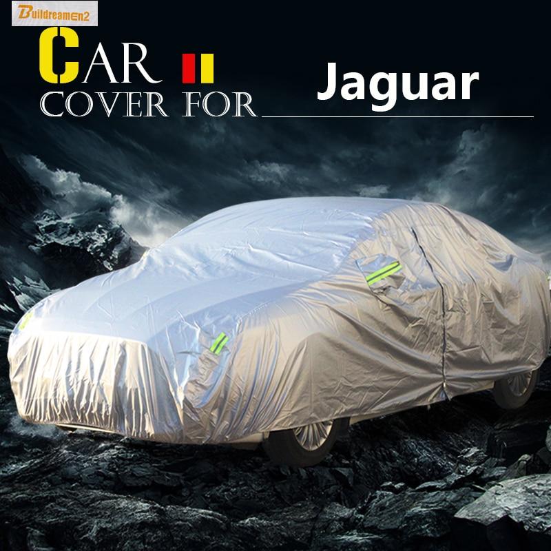 Buildreamen2 Full Car Cover Outdoor Sun Shade Snow Rain Resistant Dust Proof Cover Waterproof For Jaguar