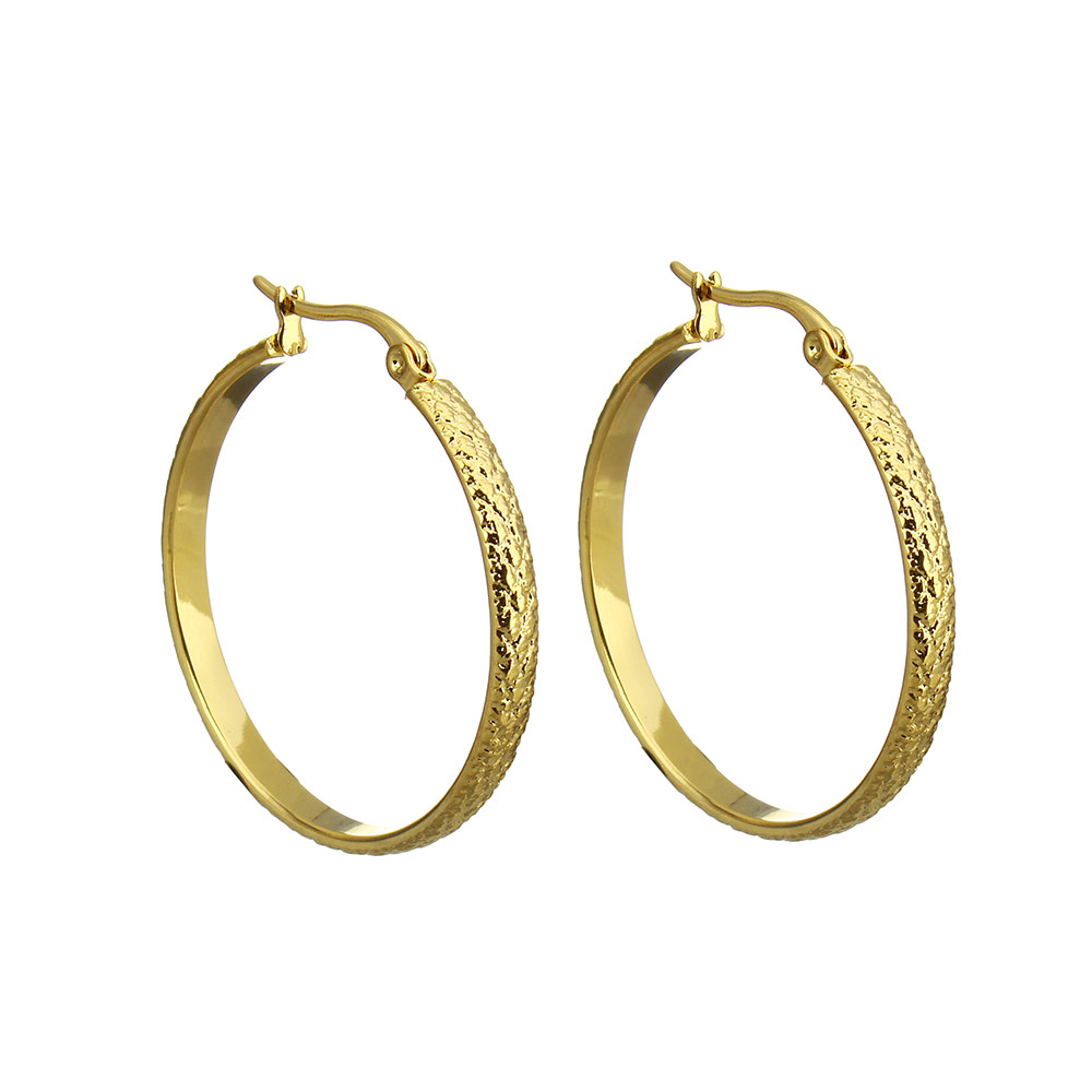 New Stylish Dazzling Stainless Steel Golden Clear Crystal Earrings For  Delicate Women Gift Hot Jewelry 350