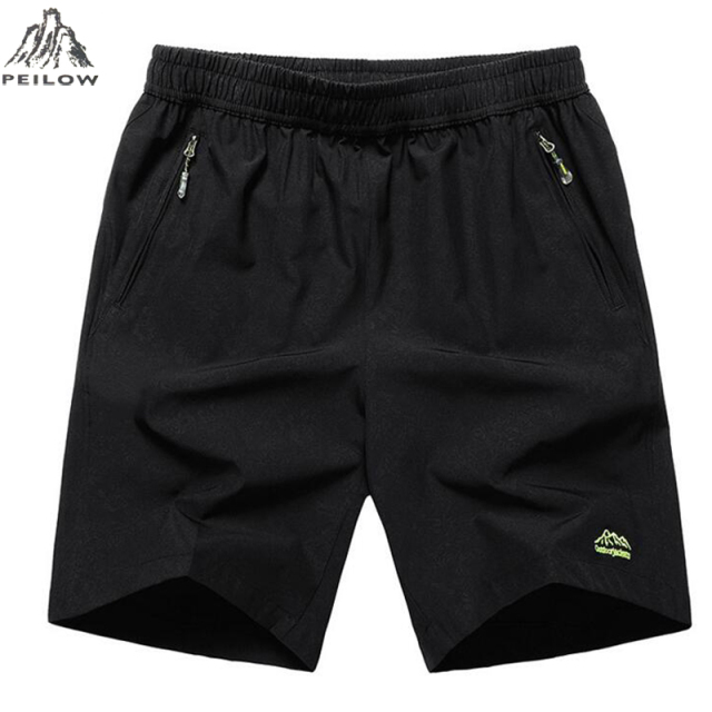 PEILOW men shorts for men summer Beach Male Fitness Men's casual elastic waist summer short plus size 10XL 9XL 8XL 7XL 6XL 5XL