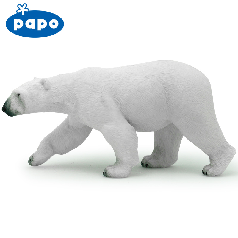 Papo wild animal plastic model polar bear hand-done dolls boy gift polar marine animal model toy penguin reindeer polar bear blue whale walrus sea l toy model sets pvc figure