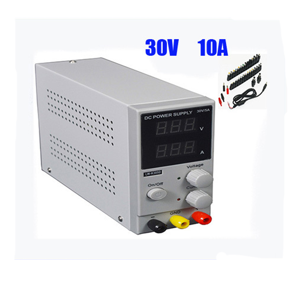New 30V 10A adjustable power switching power LW K3010D laptop repair DC power supply LED display with many gifts