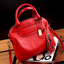 Fashion PU Leather Handbag for Women 2019 New Girl Messenger Bags with Tassel Bolsa Female Shoulder Bags Ladies Party Handbags цена в Москве и Питере
