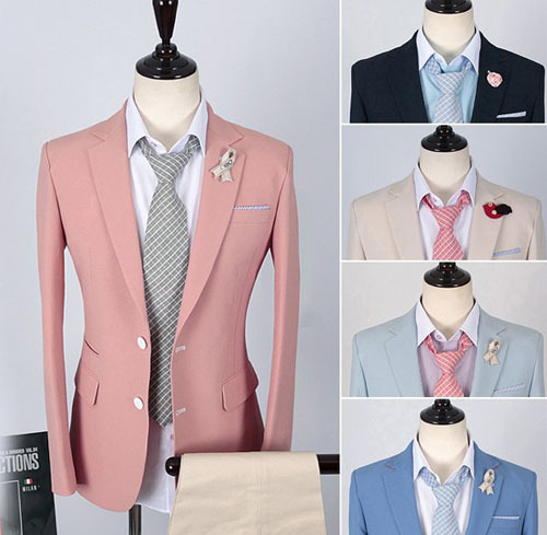 Online Shop New England Style Slim Blazer Men Casual Suit Jacket ...