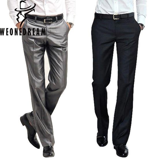 2018 New Arrival Suit Pant Men Dress Pants Male Slim Fit Dress Trousers Mens Fashion Brand Black Business Blazer Trousers