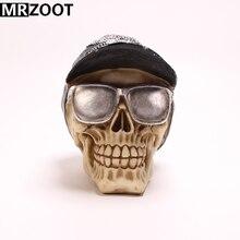 MRZOOT Gothic Punk Rivet Cap Sunglasses Skull Sculpture Cool Home Decoration and Creative Halloween