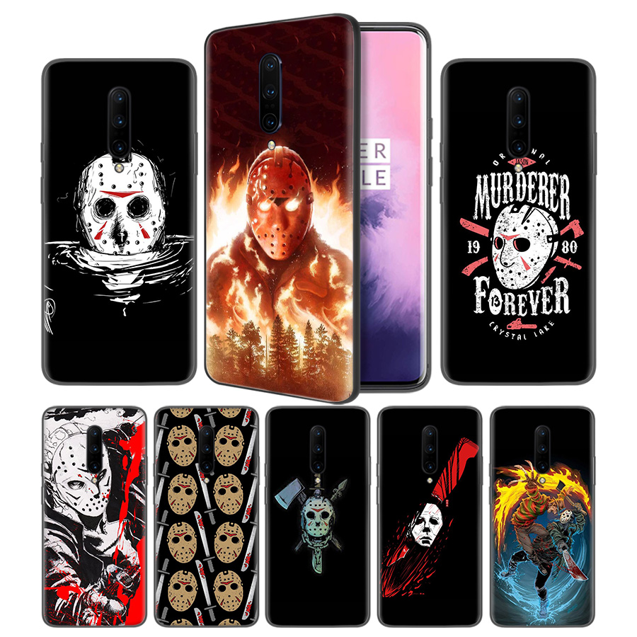 Jason Voorhees Soft Black Silicone Case Cover for font b OnePlus b font 6 6T font
