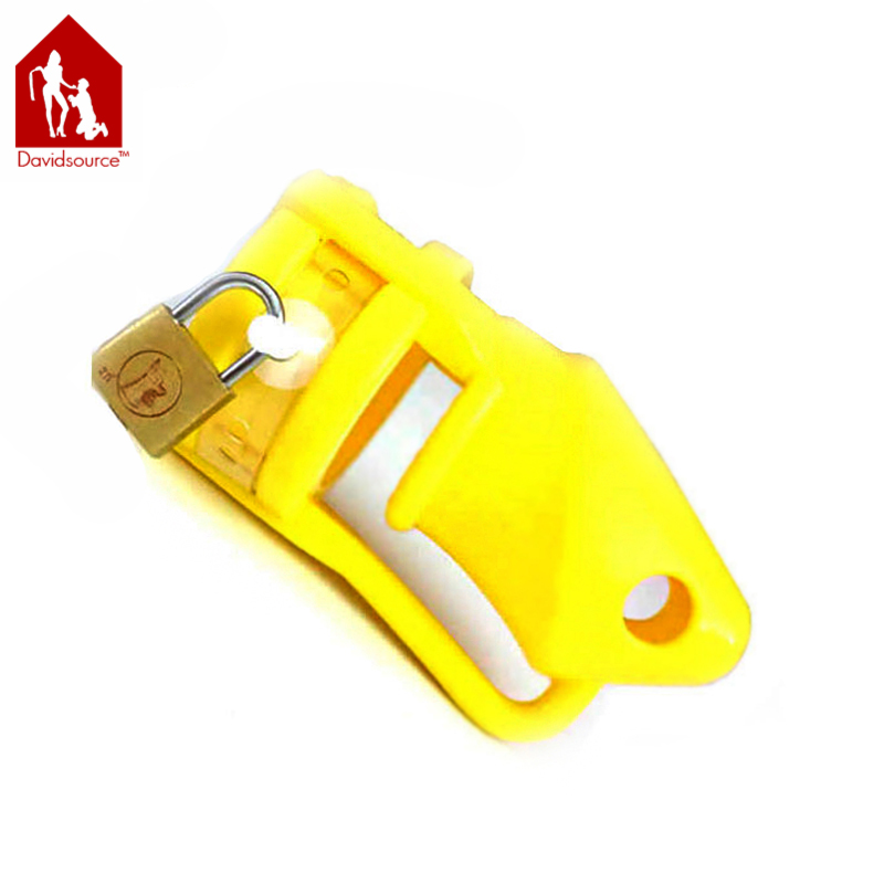 ФОТО Davidsource Yellow Silicone Cock Penis Cage Pubic Enemy Virginity Lock Male Penis Torture Kit Fetish Men Sex Toy