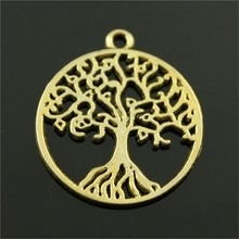 4pcs 3 Colors Tree Of Life Pendant Charms For Jewelry Making Round Tree Charms Charm Tree Of Life 25x25mm