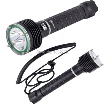 Waterproof 100m 3*CREE XM-L2 (T6) 3600 Lumen stepless dimming Mode LED Diving Flashlight Torch 2x18650 White Light LED Lantern