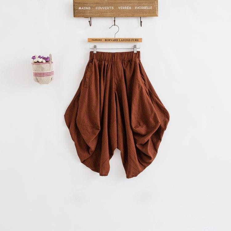 Damen Baumwolle Leinen Lose Haremshose Frauen Kleidung Strench Taille - Damenbekleidung - Foto 1