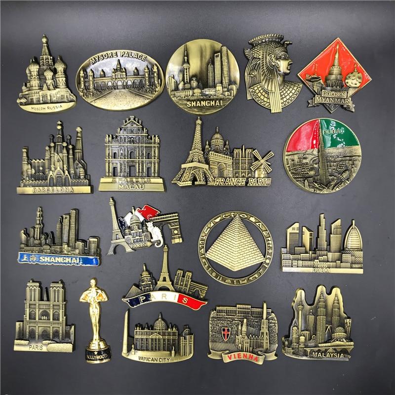 Metal premium 3D stereo refrigerator sticker fridge magnet souvenir Tourist souvenir attractions Home kitchen decoration