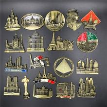 Metal premium 3D stereo refrigerator sticker fridge magnet souvenir Tourist attractions Home kitchen decoration
