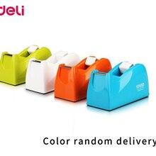 Deli colorful 18mm tape dispenser color random delivery Adhesive tape holder 815