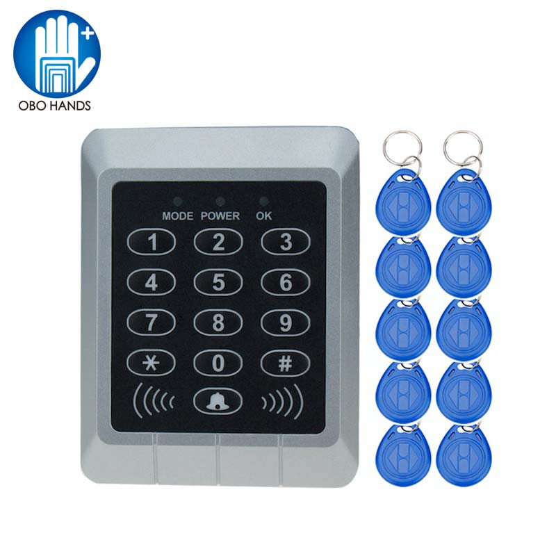 Hot Sale 1000 Users Access Controller with 125KHz RFID Keyfobs Single Door Control Independent Code Access Device Digital hot sale extra door