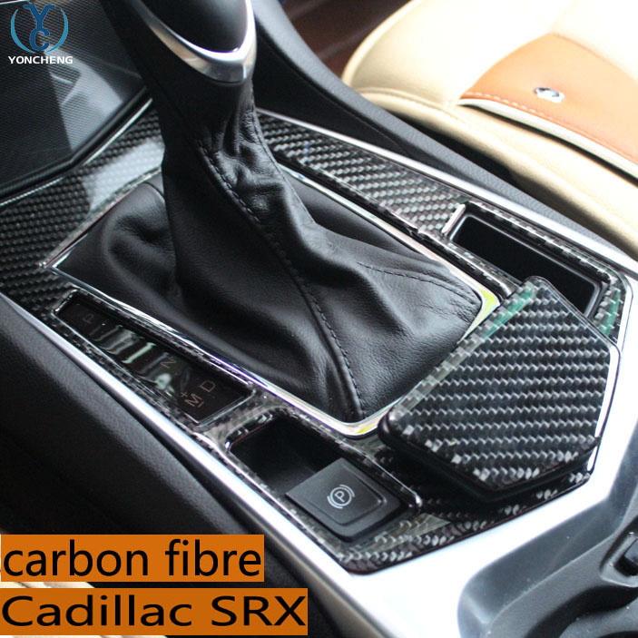 The left driving For Cadillac SRX modified special gear box ashtray decorative SRX interior carbon fiber molding parts