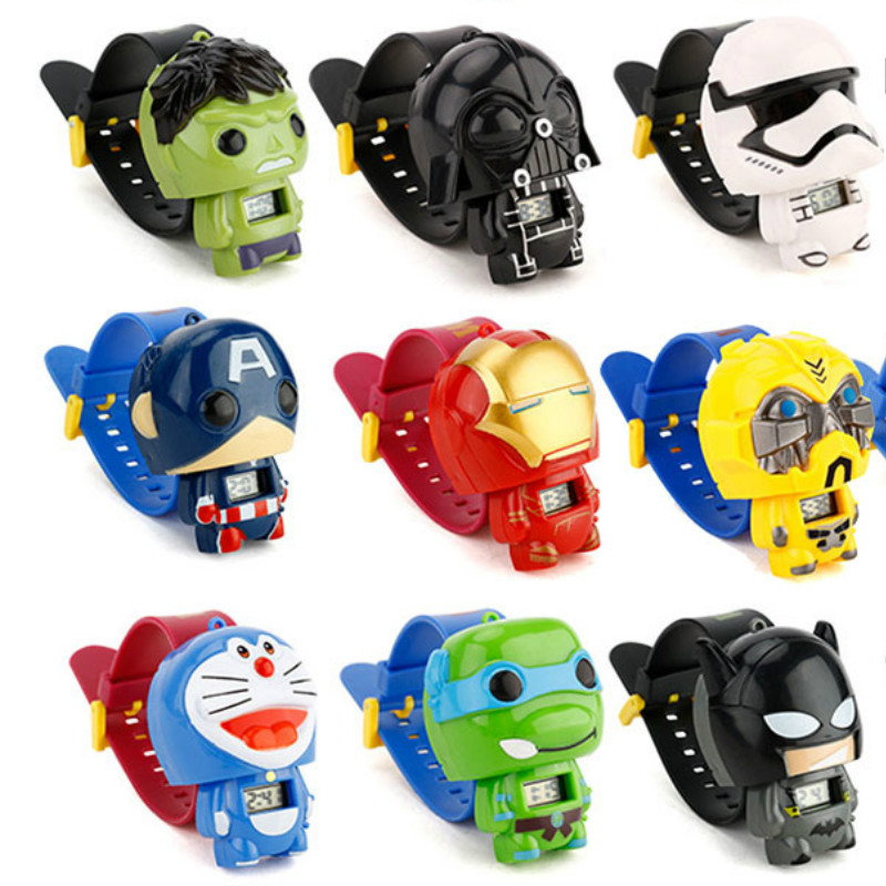 N0007 Kids Watches Nijago Hulkbuster Iron Man Spiderman Toy For Children Watch Girl Boy