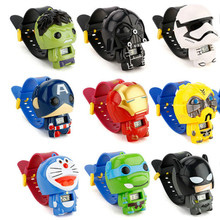 N0007 Kids Watches Nijago Hulkbuster Iron Man Spiderman Toy
