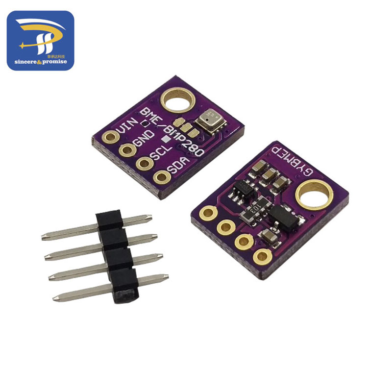 BME280 GY-BME280 Digital Sensor SPI I2C Humidity Temperature And Barometric Pressure Sensor Module 1.8-5V DC High Precision