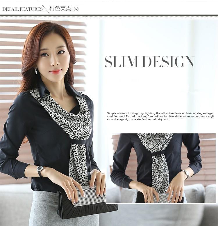 HTB1gMWmJpXXXXc7XpXXq6xXFXXXR - Women's shirt slim formal scarf collar long-sleeve blouses