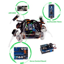 SunFounder DIY Smart Robot Electronic Crawling Spider Quadruped Robot Kit for Arduino With Nano Board