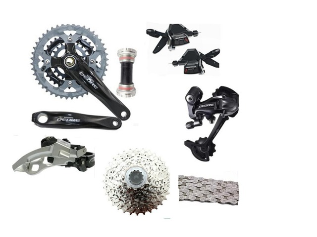 abcbd4465eb SHIMANO DEORE M590 Groupset Derailleurs for MTB Mountain Bike speed of 27S  3x9S Bicycle Racing and Training Parts