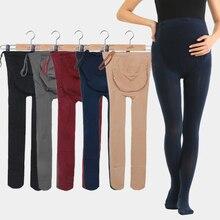 Одежда для беременных; зимние однотонные регулируемые Леггинсы для беременных женщин; плотные универсальные брюки для беременных