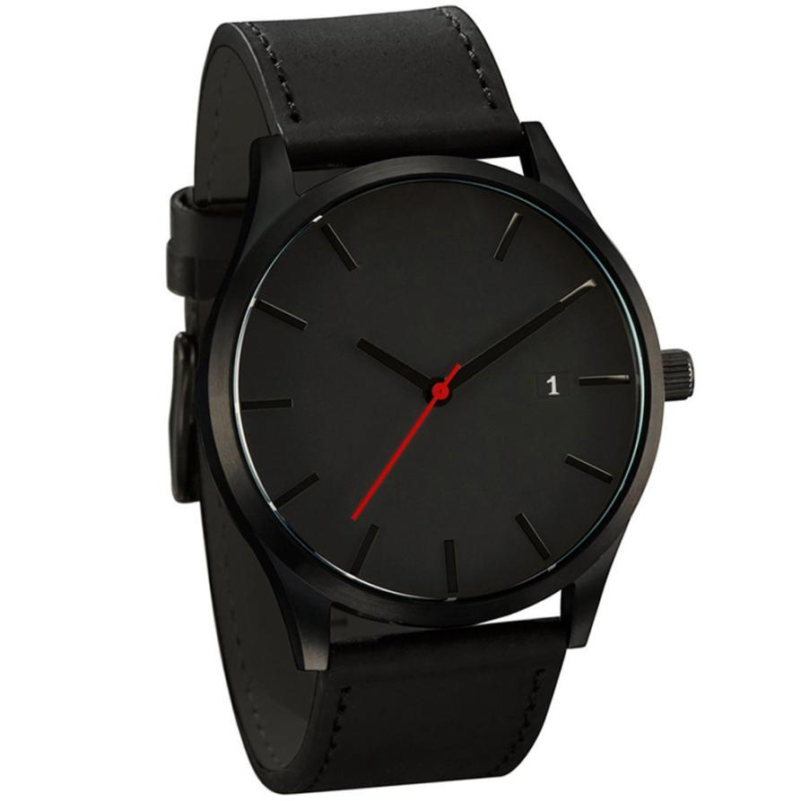 Watches Men  Montre Homme   Simple Buckle  Watches Men  Sport  Leather  Casual Quartz Wristwatches  Dropship   18JAN16