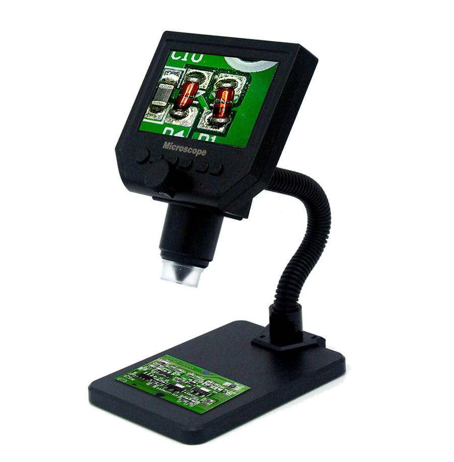 G600 600X USB microscopio elettronico digitale di saldatura video macchina fotografica del microscopio 4.3 pollice lcd Endoscopio lente di ingrandimento Della Macchina Fotografica + LED
