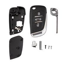 Высокая производительность 3 кнопки флип Автомобильный ключ оболочки чехол для Citroen C4 люк купе VTR C2 для Berlingo для Xsara