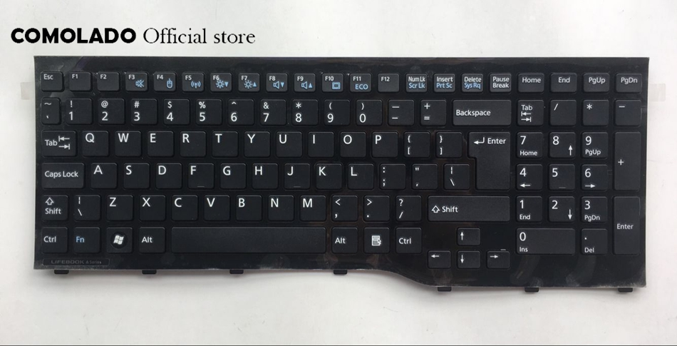 UI English laptop Keyboard For Fujitsu Lifebook AH552 black Keyboard UI Layout|Replacement Keyboards| |  - title=